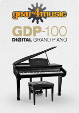 GDP-100 Digital Grand Piano with Stool by Gear4music