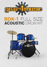 BDK-1 Full Size Started Drum Kit by Gear4music, Blue