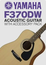 Yamaha F370DW Acoustic Guitar with Accessory Pack