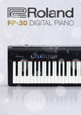 Roland FP-30 SuperNATURAL Digital Piano, Black