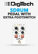 Strummable bicí pedál DigiTech SDRUM w / FS3X Footswitch